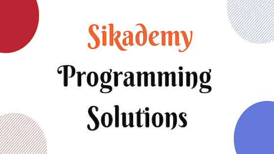 Solution to This one is a fairly simple program, but I like it a lot. It is … - Sikademy