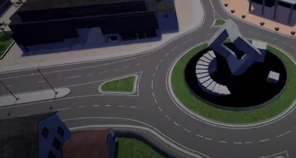 CARLA simulator window screenshot without elements